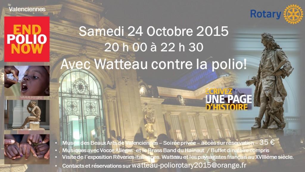 Avec Watteau contre la Polio le samedi 24 octobre 2015